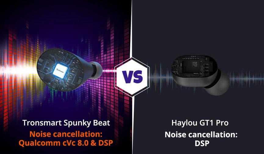 Características de Tronsmart-Spunky-Beat-vs-Haylou-GT1-Pro